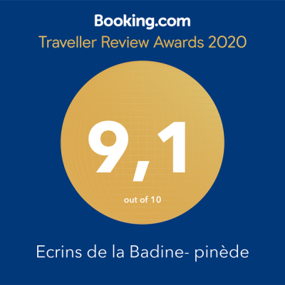 Badge note de booking 2020